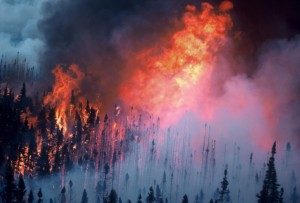 Boreal wildfire, Saskatchewan, Canada (Photo by Bill de Groot, Natural Resources Canada – Canadian Forest Service)