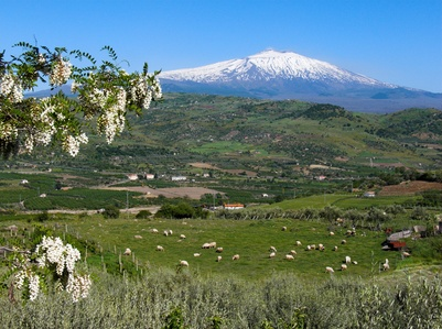 Landscape around Mount Etna