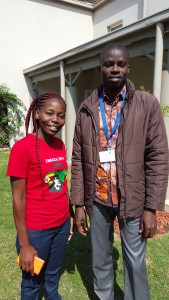 Maggie Munthali from Malawi and Badabate Diwediga  from Togo