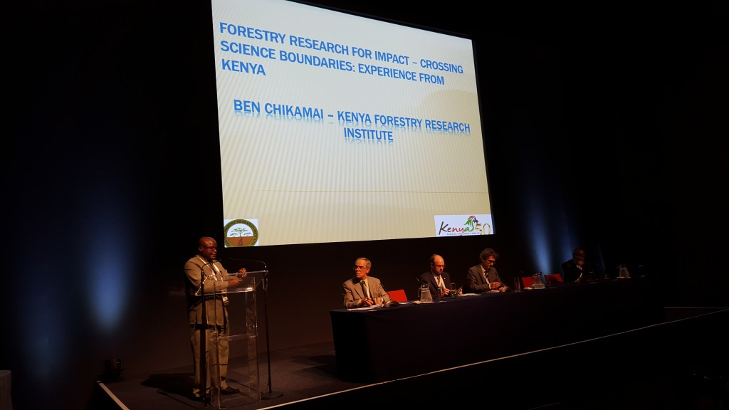 Ben Chikamai (KEFRI) speaking at the IUFRO Directors' Forum at the WFC 2015