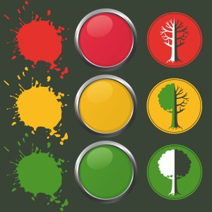 The stoplight tool is essentially a simplified presentation of complex restoration initiatives, and how they may contribute to climate change mitigation and adaptation and vice-versa, in a specific local context. (Image by Yougen/iStock)