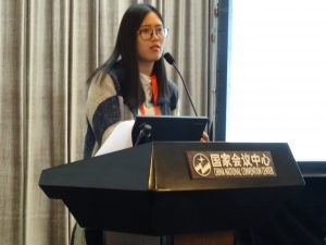 Ms. Guo Xiali during her presentation. Photo: Eva Schimpf, IUFRO Headquarters