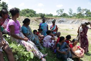 Social movement by indigenous women (temporarily) stops mining inside community forest in Odisha, India.